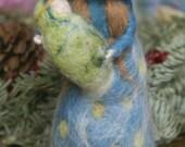 Nativity Scene - Mary and Jesus - Needle Felted Figurine