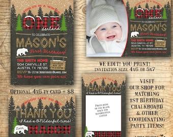 Winter Onederland Invitation - Winter Onederland Birthday - Onederland Invite - Snowflake Invitation - Chalkboard Invitation - U print!