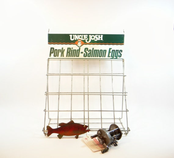 Fishing bait display rack uncle josh pork rind salmon eggs for Pork rind fishing