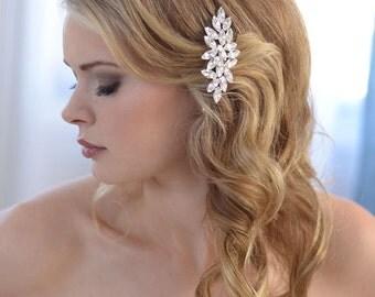 Wedding Hair Comb, Rhinestone Hair Comb, Bridal Hair Comb, Wedding Accessory, Vintage Hair Comb, Rhinestone Bridal Headpiece ~TC-2248