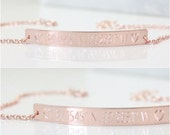 Personalized Bar Bracelet - 40x4.5mm - Custom Bar Bracelet, Coordinates Jewelry, Meaningful Jewelry, Gold Filled, Rose Gold, Sterling Silver