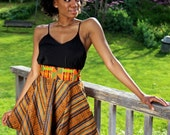 Kente Mixed Print Skirt