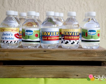 Toy Story Inspired Water Bottle Labels