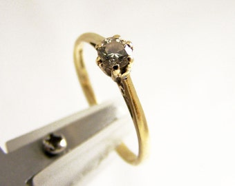 Vintage 9ct Gold Diamond Ring, 9ct Ring, 0.20ct Diamond Ring, Engagement Ring, Solitaire Diamond Ring, Size 6, Size L