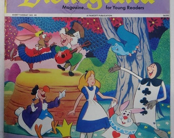 """1973 DISNEYLAND MAGAZINE...for Young Readers, No. 50 featuring """"Alice In Wonderland"""""""