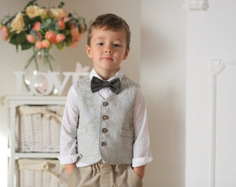 Boys vest Ring bearer vest Wedding party vest Boys baptism outfit Family photo Boys clothes Autumn winter wedding vest