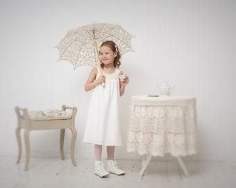 Girls dresses Toddler girls dress Girls linen dress Girls tunic dress Sleeveless dress Girls clothing Flower girls dress Baptism dress