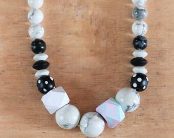 Howlite Geo Bead Necklace