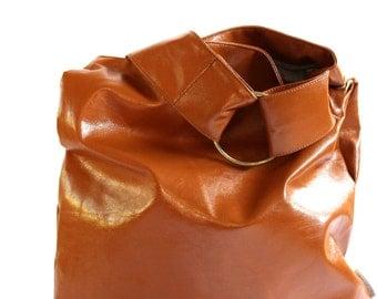 Hobo Bag Handbag, Women Crossbody Hobo, Vegan Hobo Purse, Urban Messenger, Cognac Brown Hobo, Casual Shoulder Bag