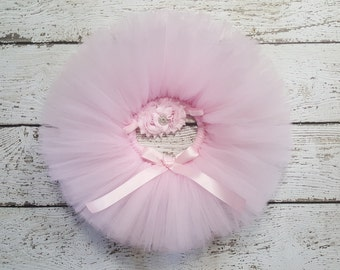 Pale Pink Tutu - Baby Pink Tutu Set - Light Pink Tutu - Birthday Tutu - Cake Smash Outfit - Newborn Tutu - Infant Tutu - Toddler Tutu