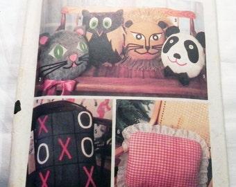 Animal Pillow Patterns To Sew : Sewing pattern pillow animal Etsy