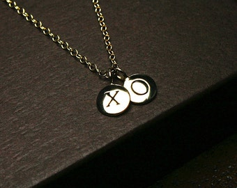 XO, xo, xo necklace, xo jewelry, hugs and kisses, gold love necklace, valentines day, hugs and kisses, gold love jewelry, xoxo, valentine