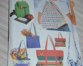 Butterick 4968 Carry All Bags Sewing Pattern - UNCUT