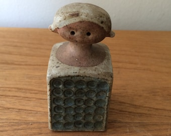 Vintage Ceramic Mid Century Girl Figurine Salt Shaker
