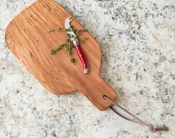 Cutting Board with Handle, Wood Cutting Board, Serving Tray, Cheese Board, Beech Cutting Board, Bread Board, Charcuterie Board, Tray