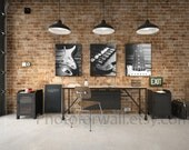 Electric guitar large canvas art, Large Art set of 3 black and white photography, guitar Fender photography guitar print decor