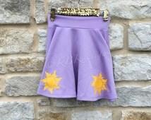 Disney Skirt Rapunzel Inspired Tangled Disney Skirt | Disney Princess Outfit | Disney Adult Outfit | Tangled Lanterns Disney |Purple Skirt