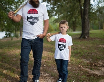 Father Son Matching - Matching Outfits - Gift for Dad - Dad and Son Shirts - Lumberjack Shirts - Father Son Shirts - matching father baby