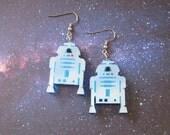 RETIRING SALE - Star Wars R2D2 Earrings, Artoo Deetoo Pendant, R2 Star Wars Robot Earrings