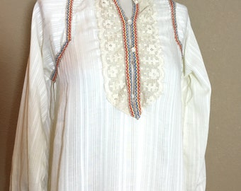 Vintage 1960's 70's Saramal by Lingerie hippie era nightgown lingerie M