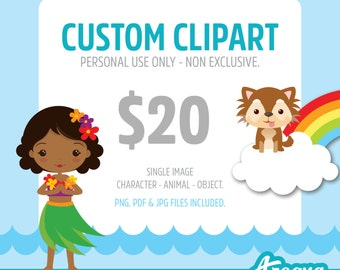 Custom Clipart - Personal Use - Non Exclusive - PNG, JPG & PDF files included.