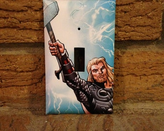 Avengers Thor Light Switch Cover, Thor Comic Book, Thor Decoration, Avengers Decoration