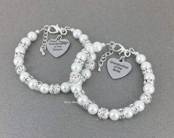 Grandmother of the Bride Bracelet Grandmother of the Groom Bracelet Gift for Grandmother Pearl Bracelet Grandma Gift