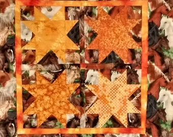 Blazing Sadddles Quilted Wall Hanging