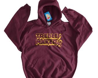 Music Hoodie Band Geek Hoodie Treble Maker Hoodie Glee Club Hoodie Chorus Hoodie Sweater Men Womens Ladies Screen printed Hoodie