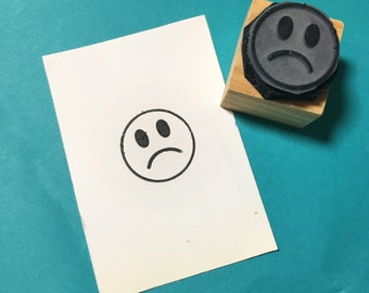 Sadface Rubber Stamp SALE