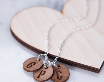 Personalised Family Charm Necklace - Mother's Day Gift - Custom Necklace - Gift for Ladies - Monogram Necklace - Gift for Mothers