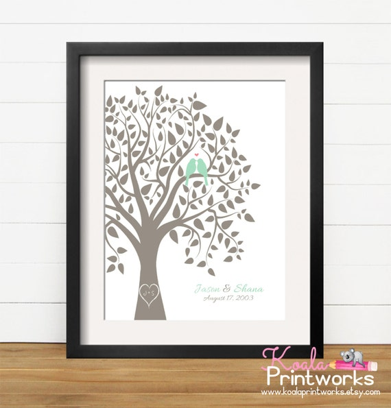 Personalized Wedding Gifts For Couple Uk : Personalized Wedding Gift, Engagement Gift, Personalized Love Bird ...
