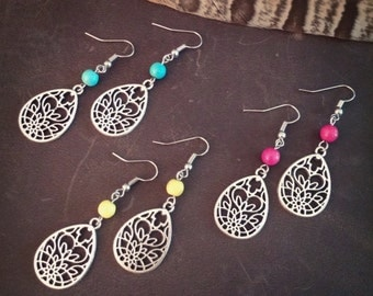 Magnolia // Yoga Earrings // Lotus Earrings // Bohemian // Hippie Earrings // Boho Earrings // Silver Earrings // Flower Earrings // Cute