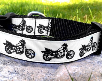 Motorcycle 1 Inch Width Dog Collar