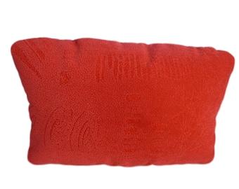 Neck support pillow, pillow, neck pillow, Flockvelour, dimensions: 40x25x9cm