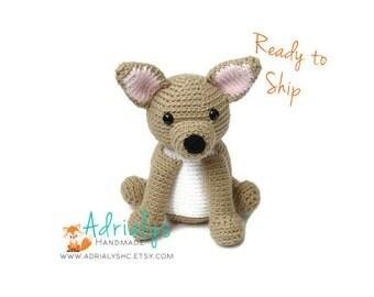 Crochet Chihuahua | Crochet Dog | Crochet Animals | Crochet Toy | Dog Toy | Chihuahua Toy | Dog Amigurumi | Ready to Ship