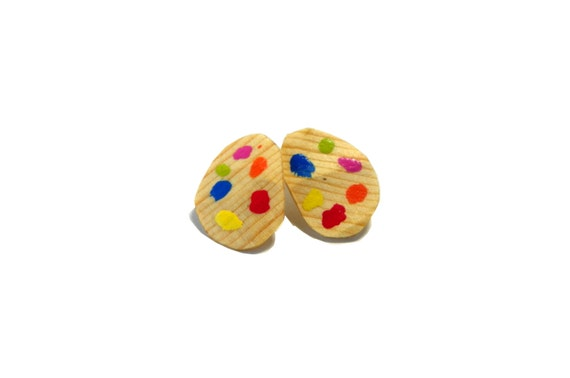 Artist Palette Earrings from Feath & Kee