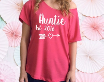 Auntie Established Shirt. New Aunt. Aunt To Be. Auntie To Be. Pregnancy Announcement Shirt. New Niece. New Nephew. Aunt Shirt. Auntie Tee