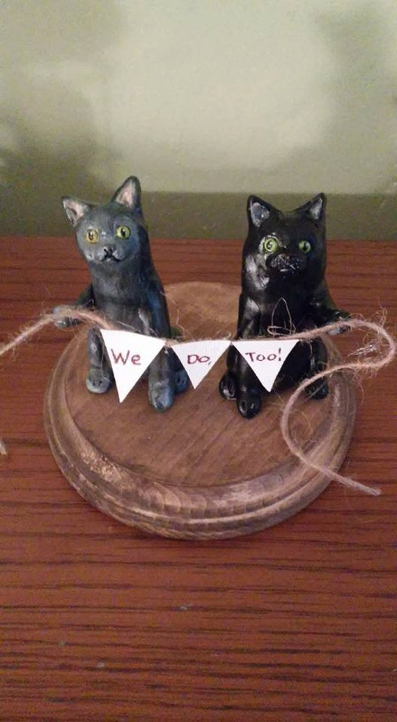 wedding cake topper cat and dog items similar to cat cake topper or cat and wedding 26306