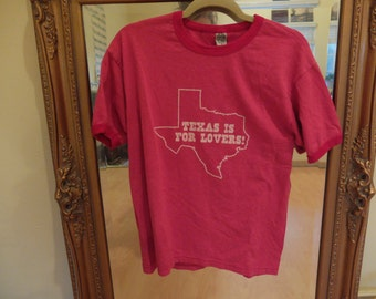 Vintage Texas Is For Lovers Ringer Tee
