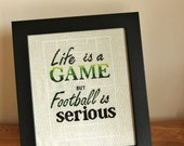 Football cross stitch pattern - life is a game - sports quote - PDF Download