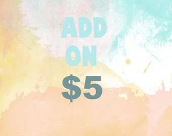 Add On-Five Dollars-I Edit For You