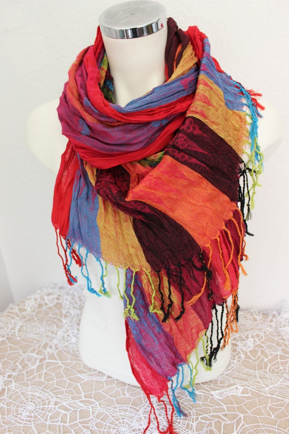 mens linen scarf ethnic scarves mens gift by