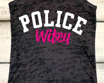 Police Officer's Wife - Police Wifey - Police Officer's Girl - Law Enforcement Wife - Cop Wife - Police Wife Shirt - Police Wife Decal - Cop