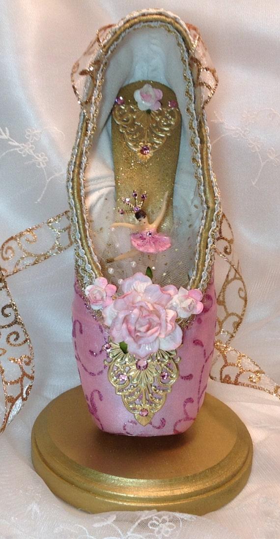 Pink and gold ballerina centerpiece ballet birthday