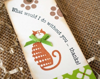 Cat Thank You Tags - Thank You Gift Tags - Cat Lover Thank You Gift - Handmade Kitty Tags - Cat Themed Gift Tags - Thanks Tags