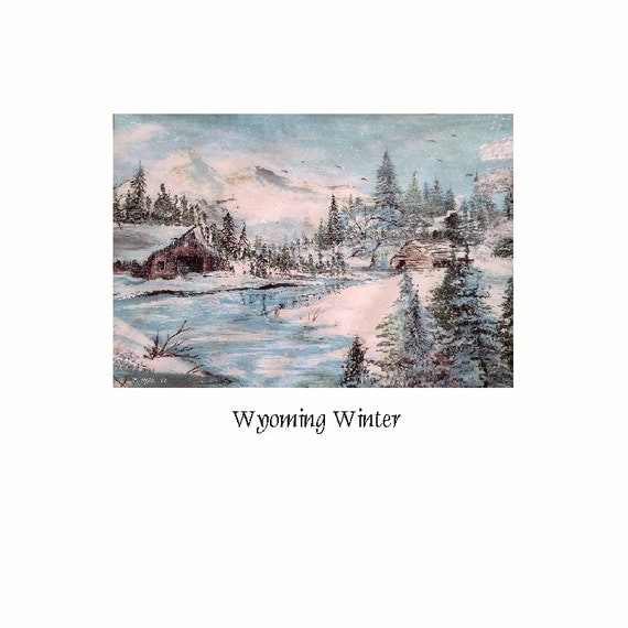 Wyoming Winter   Giclee Fine Art Print By Wyoming Artist Joyce Lee