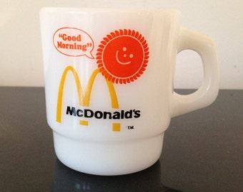 McDonald's Good Morning Stackable Fire King Coffee Cup