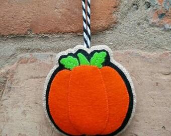 Felt Halloween pumpkin ornament