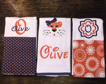 Personalized Burp Cloths - Tiger